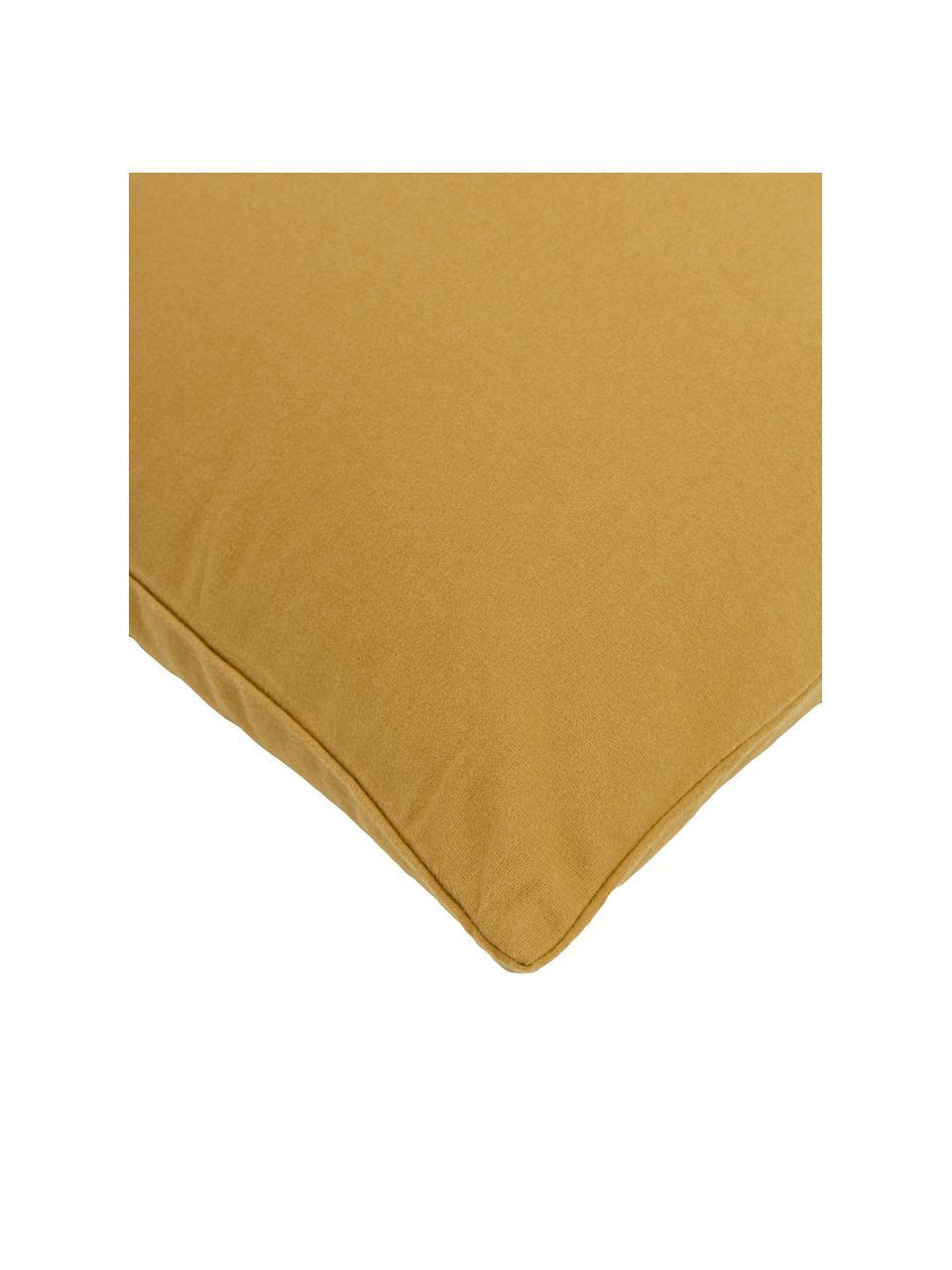 Flanell-Bettwäsche Biba in Senfgelb, Webart: Flanell Flanell ist ein k, Gelb, 135 x 200 cm + 1 Kissen 80 x 80 cm