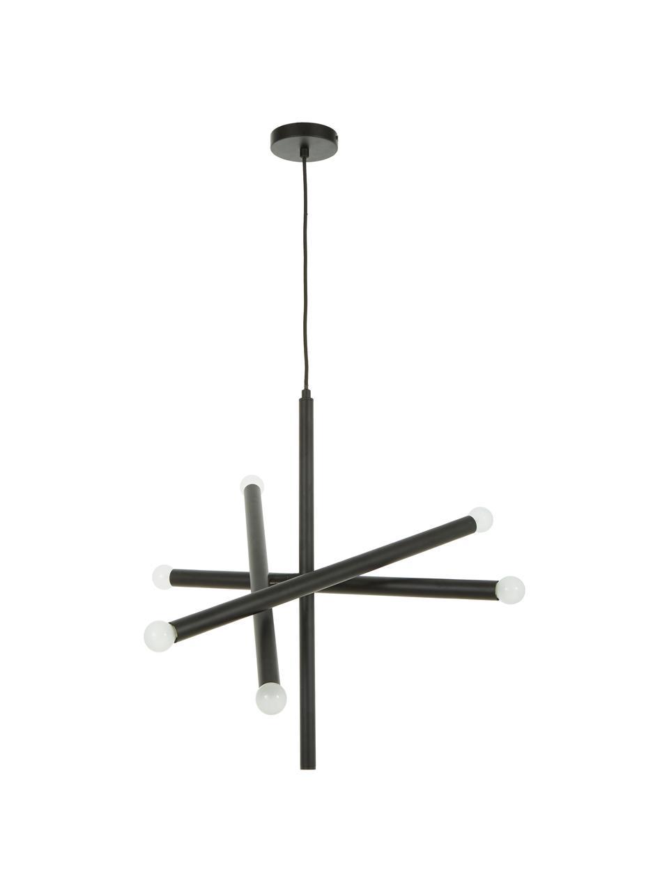 Lampada a sospensione di design Sticks, Baldacchino: metallo verniciato a polv, Ottonato, Ø 60