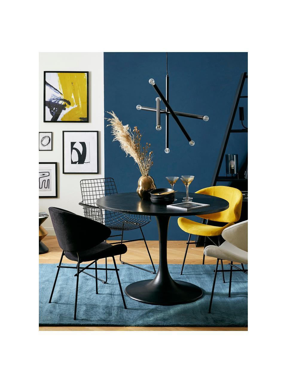 Design hanglamp Sticks, Baldakijn: gepoedercoat metaal, Vermessingd, B 60 cm