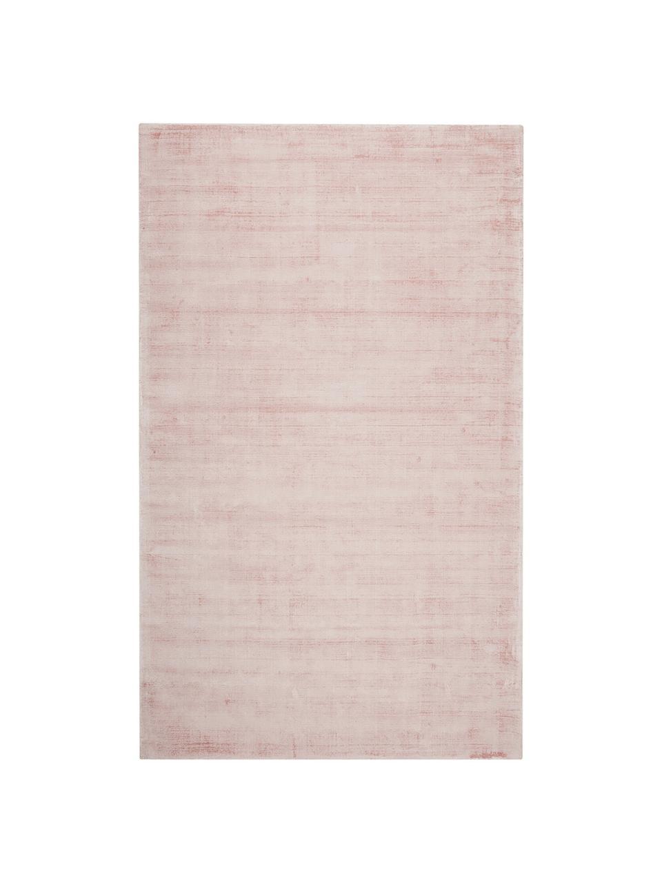 Ručně tkaný viskózový koberec Jane, Růžová