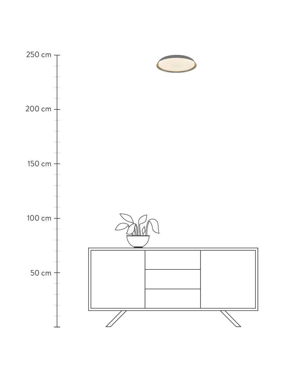Lampa sufitowa LED Piso, Szary, Ø 37 x W 5 cm