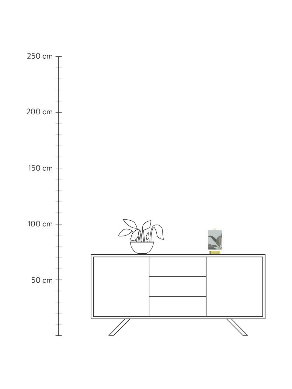 LED-Bilderrahmen Glo, Sockel: Metall, vermessingt, Messingfarben, 13 x 18 cm