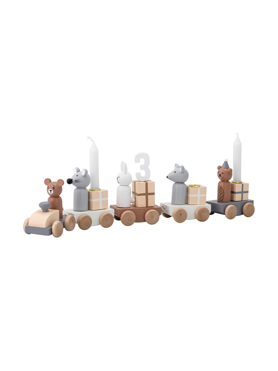 Deko-Objekt Birthday, Mitteldichte Holzfaserplatte (MDF), Mehrfarbig, 38 x 11 cm