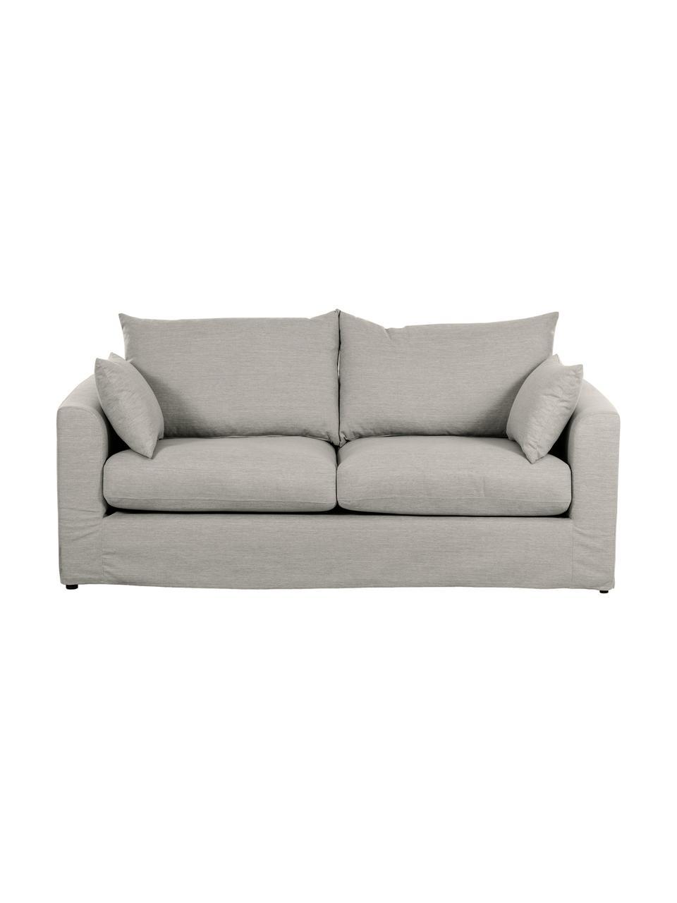 Sofa Zach (2-Sitzer) in Taupe, Bezug: Polypropylen Der hochwert, Füße: Kunststoff, Webstoff Zach, B 191 x T 90 cm