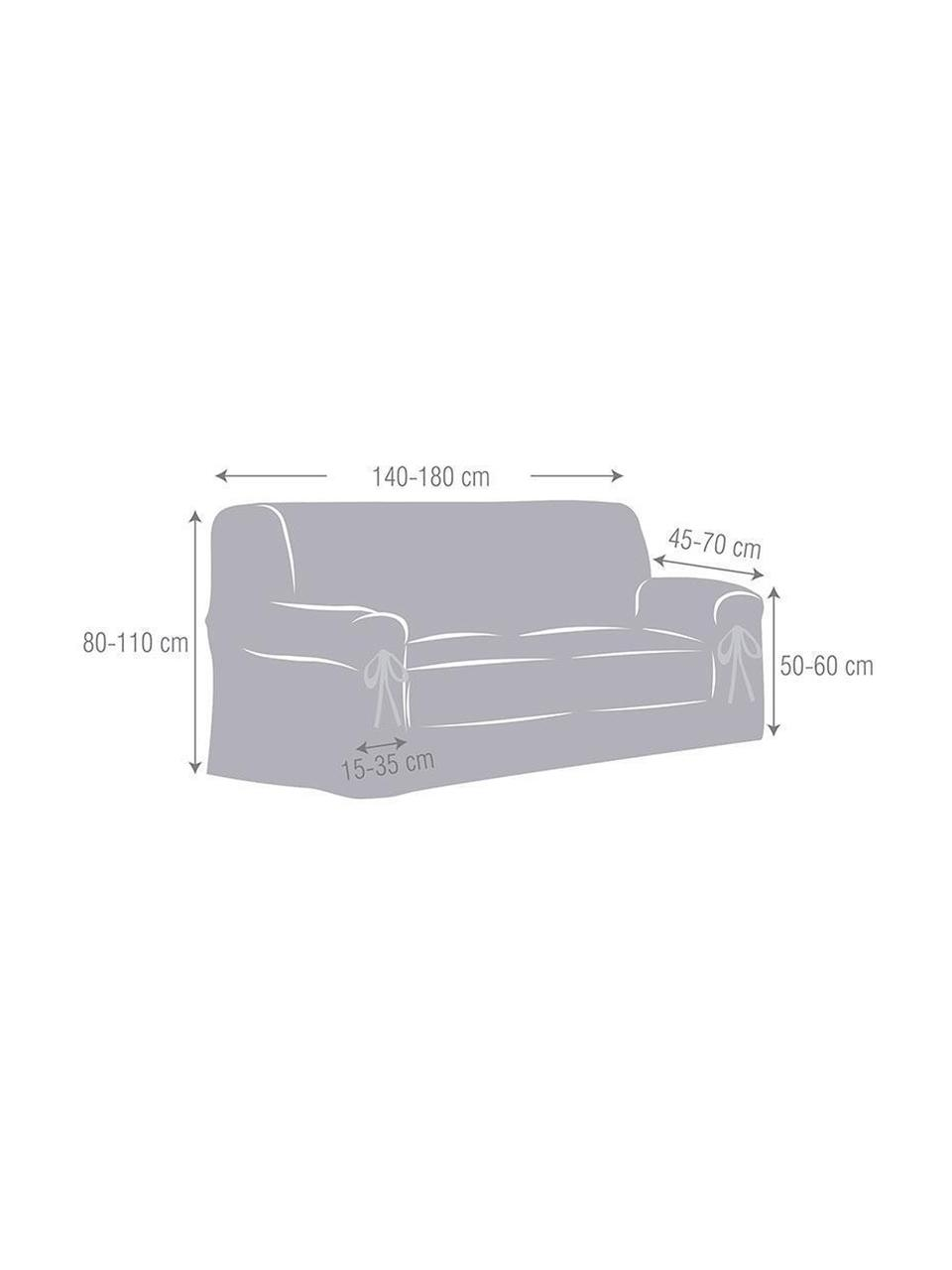 Pokrowiec na sofę Bianca, 100% bawełna, Odcienie kremowego, S 160 x W 110 cm