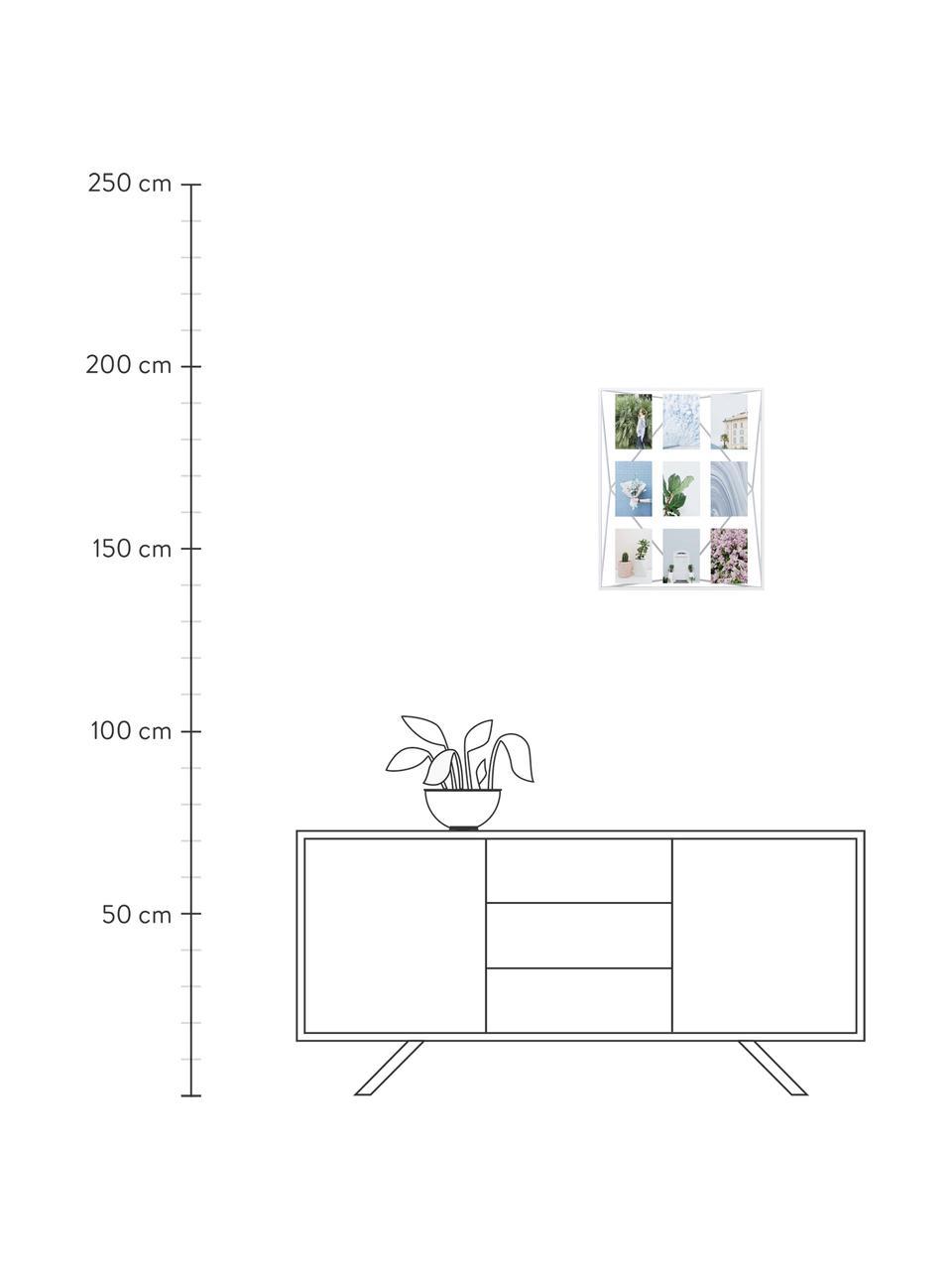 Ramka na zdjęcia Prisma, Metal powlekany, Biały, 10 x 15 cm
