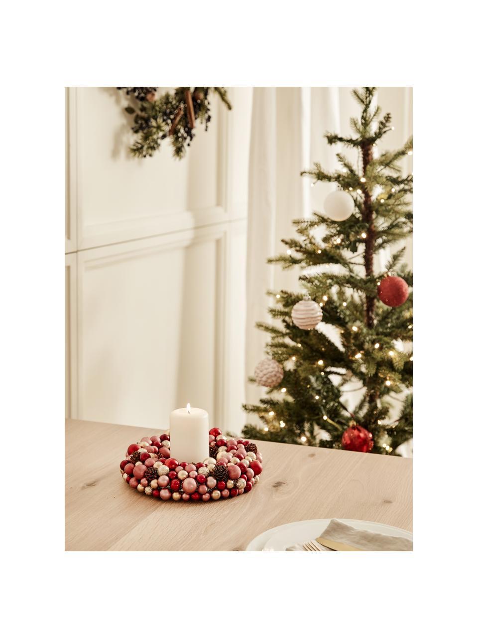 Weihnachtskranz Festivity, Kunststoff, Styropor, Rot, Goldfarben, Ø 33 x H 7 cm