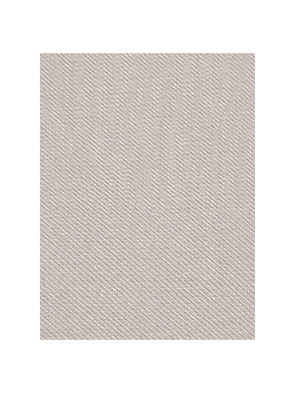Set lenzuola in raso di cotone taupe Comfort, Tessuto: raso Densità del filo 250, Taupe, 240 x 300 cm + 2 cuscini 50 x 80 cm