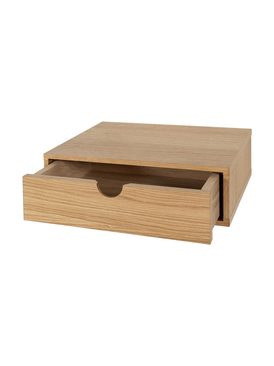 Table de chevet murale en bois, avec tiroir Farsta, Bois de chêne