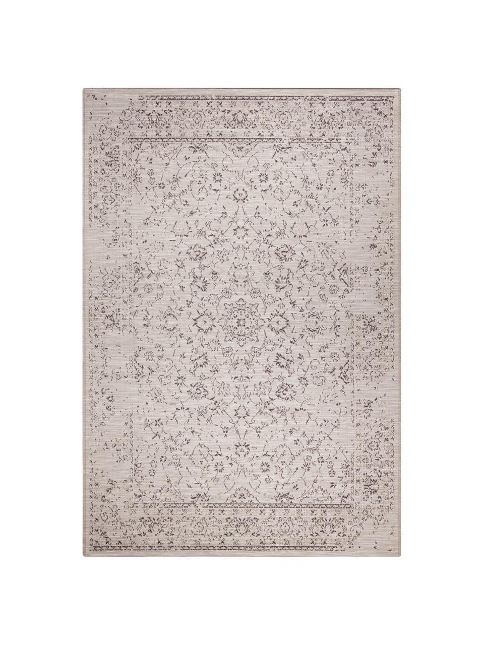 In- & Outdoor-Teppich Orient im Vintage Style, 100% Polypropylen, Grautöne, B 190 x L 290 cm (Größe L)
