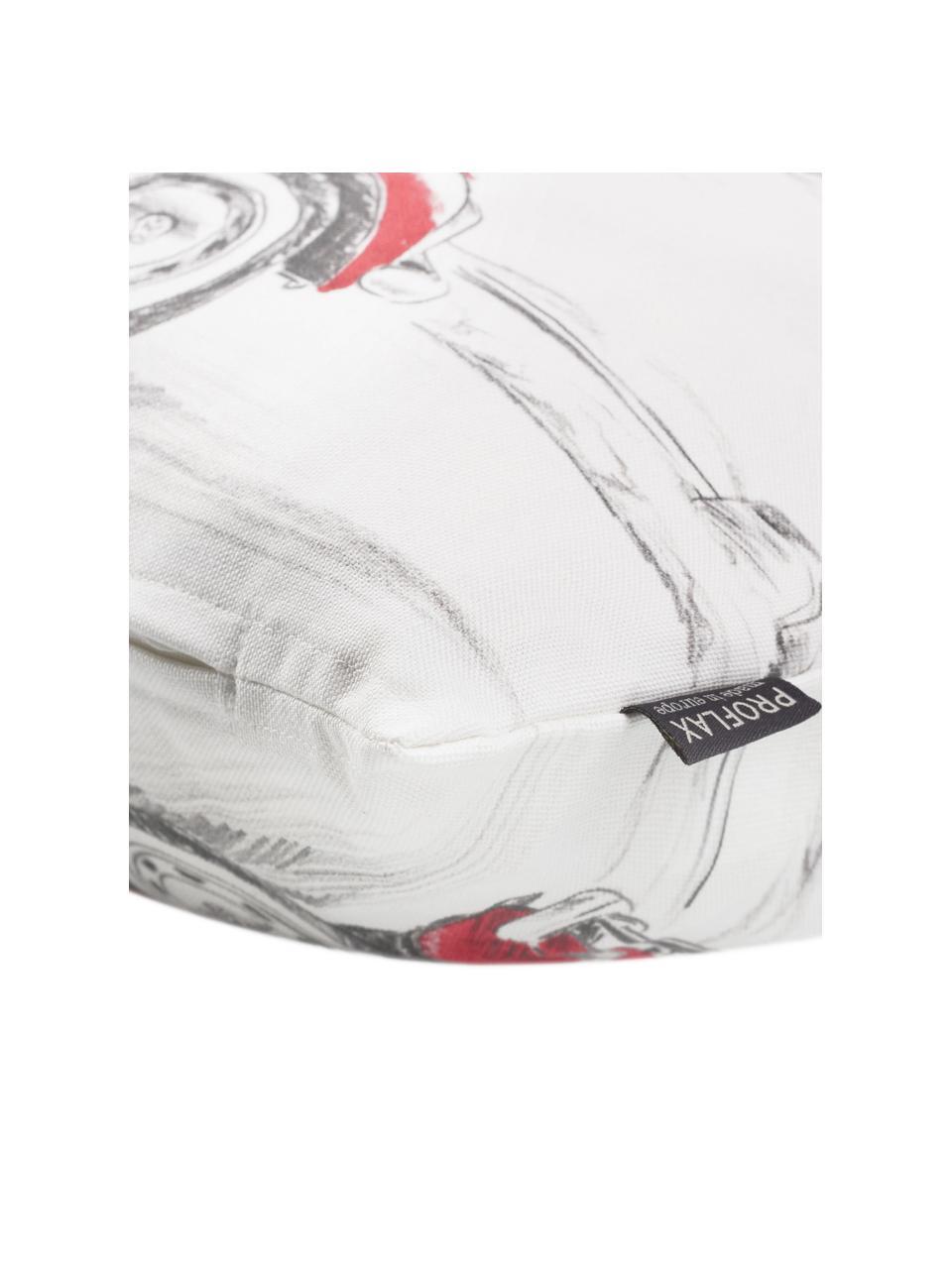 Housse de coussin rectangulaire Dodo, Blanc, rouge, gris