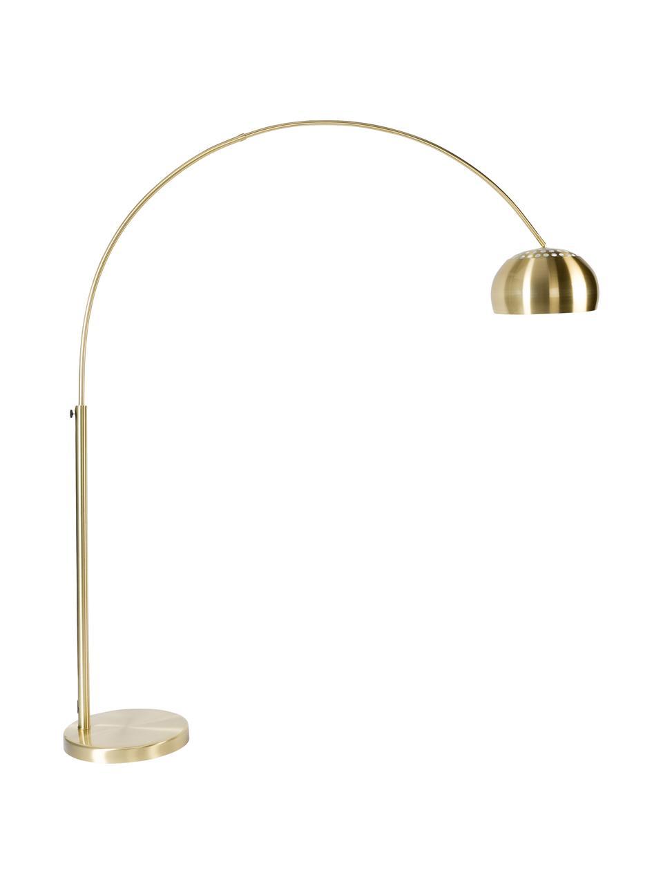 Grand lampadaire arc doré Metal Bow, Couleur laitonnée
