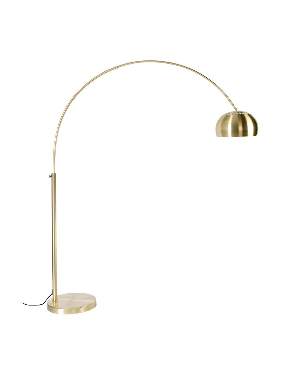 Grand lampadaire arc Metal Bow, Couleur laitonnée