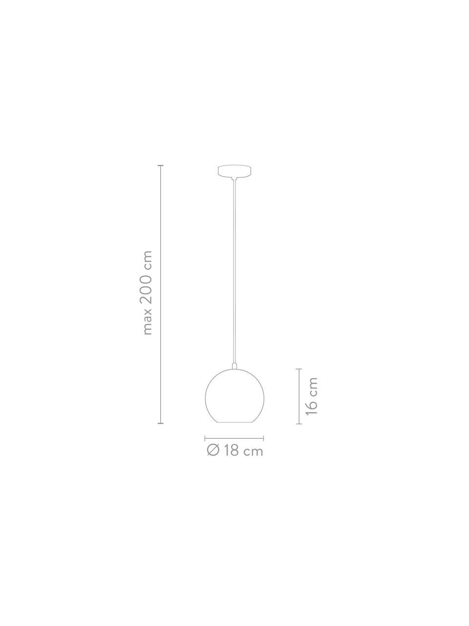 Petite suspension boule couleur cuivre Ball, Couleur cuivrée