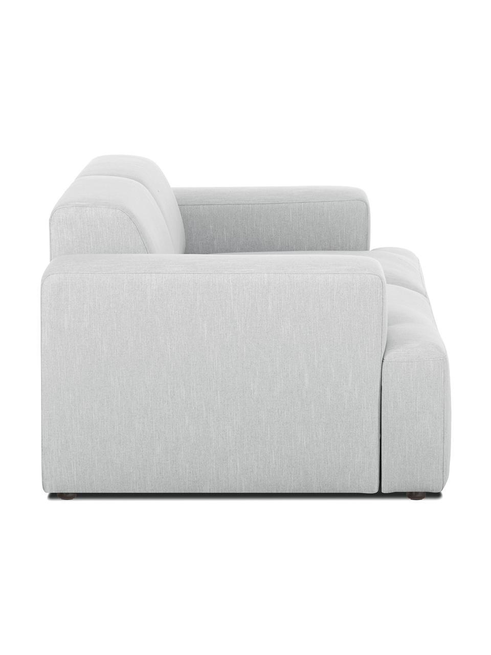 Canapé 2places gris clair Melva, Tissu gris clair