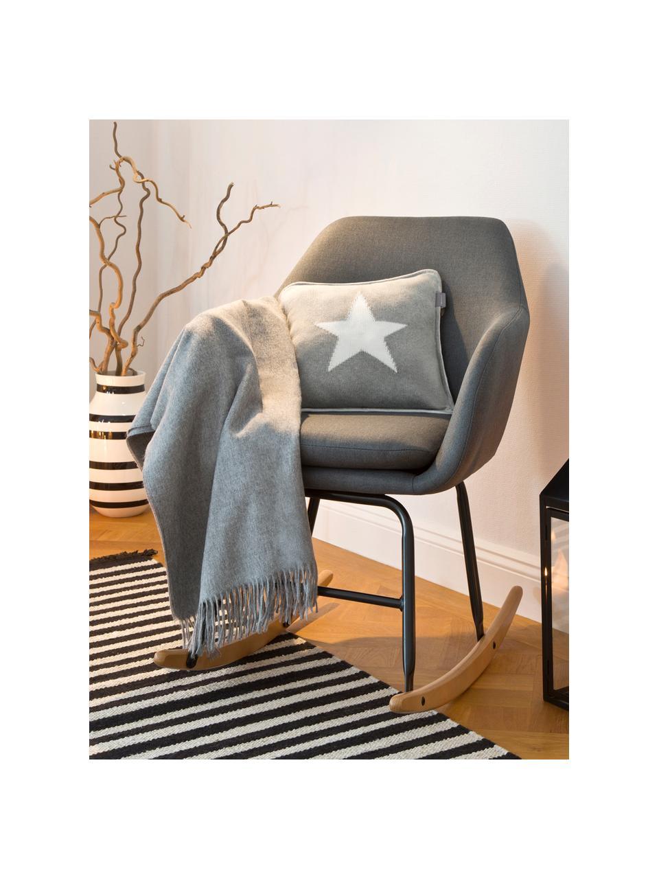 Fotel bujany  Emilia, Tapicerka: 90% poliester, 8% wiskoza, Nogi: metal malowany proszkowo, Ciemnyszary, S 57 x G 69 cm