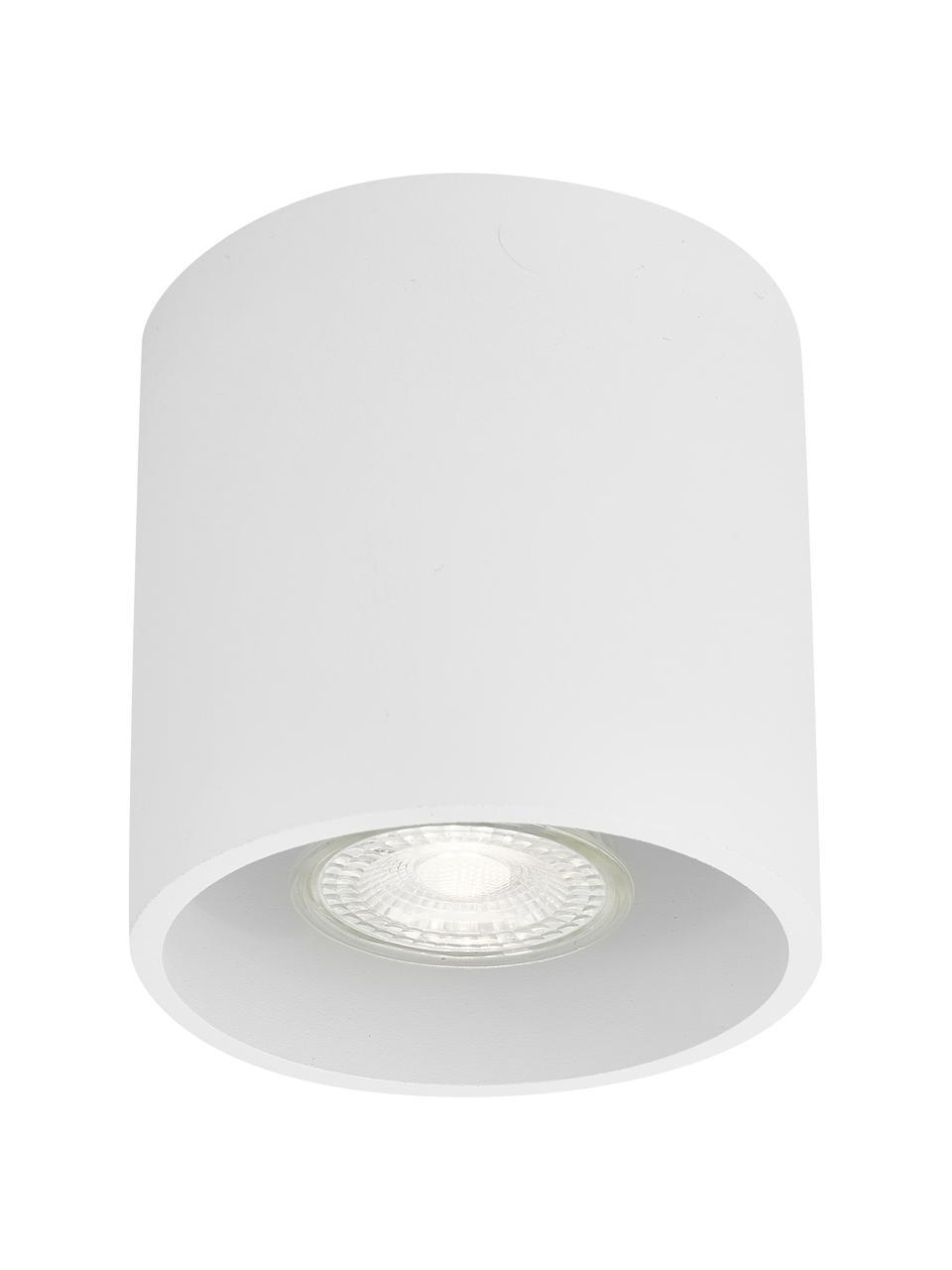Faretto da soffitto bianco Roda, Lampada: alluminio rivestito, Bianco, Ø 10 x Alt.10 cm
