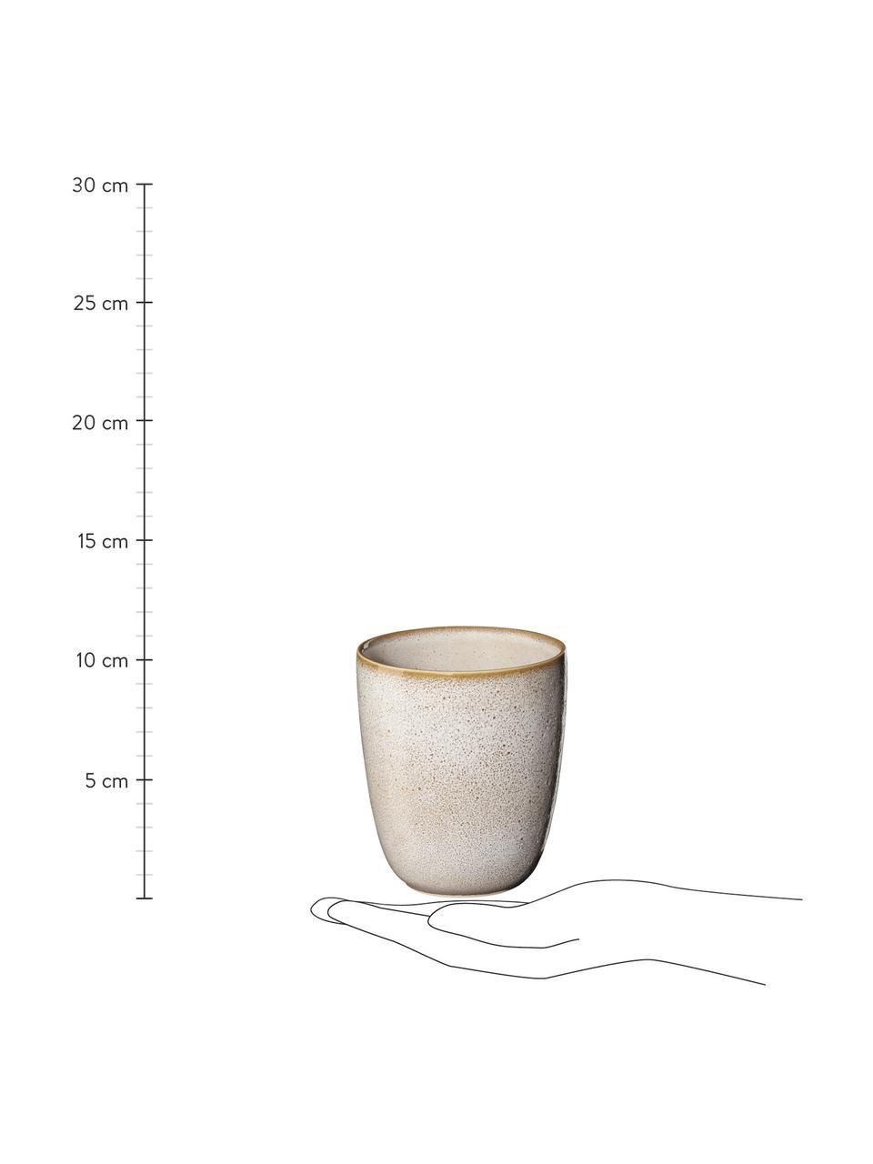 Šálek na espresso s podšálkem z kameniny Saisons, 6 ks, Béžová
