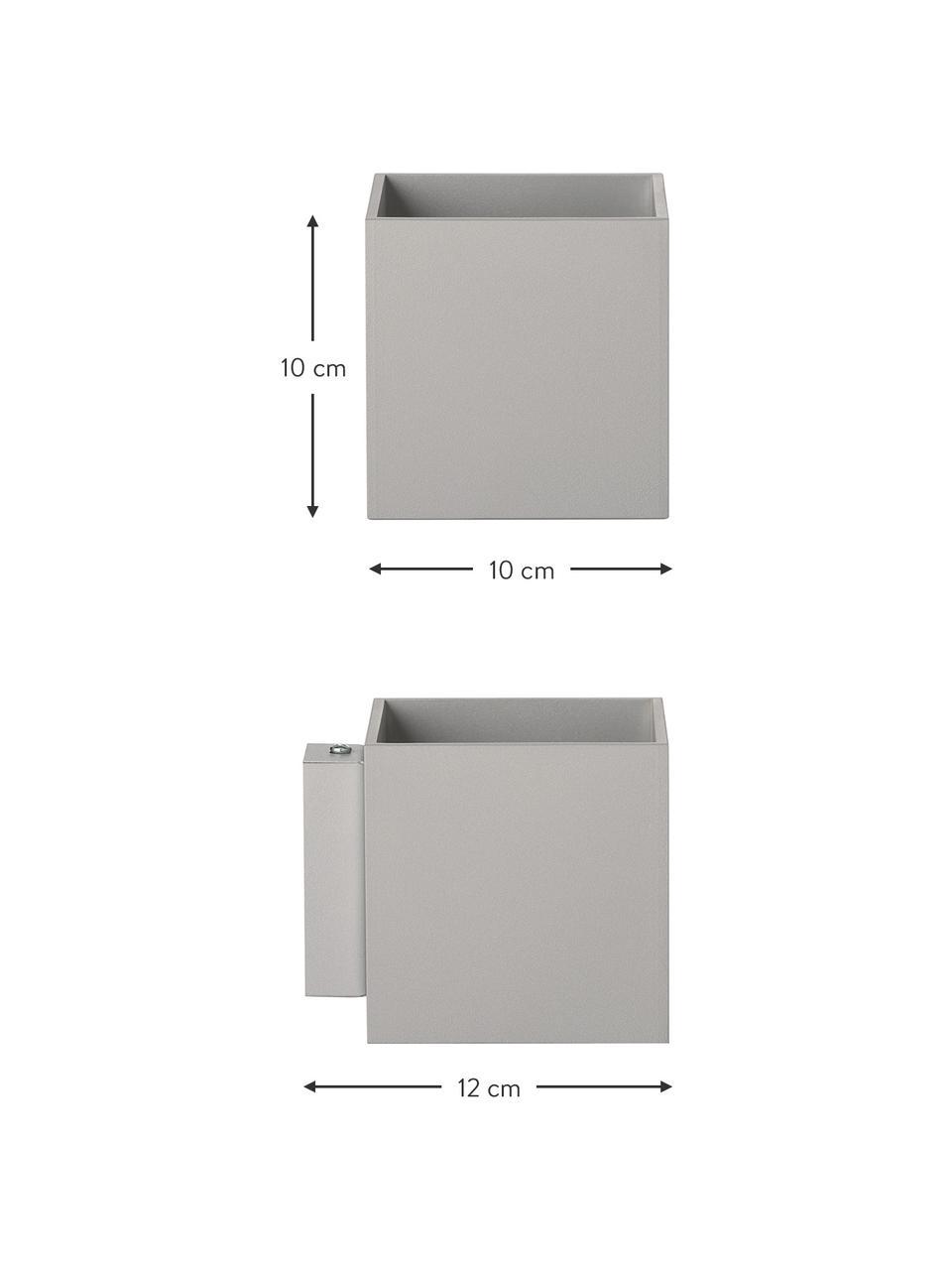Applique grise minimaliste Quad, Gris