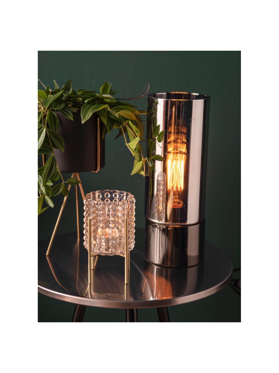 Kleines Übertopf-Set Pedestal aus Metall, 2-tlg., Metall, lackiert, Schwarz, Sondergrößen