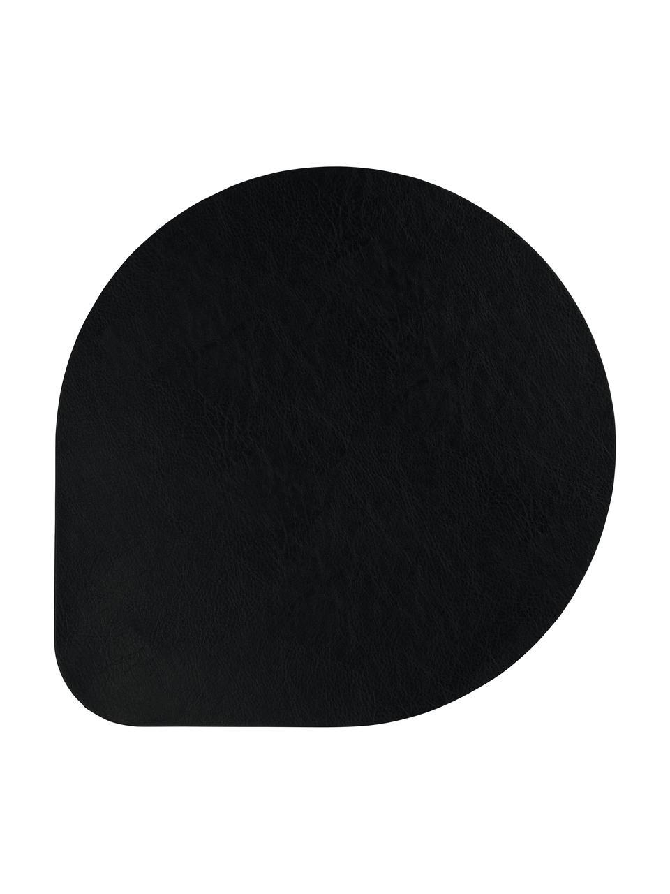 Tovaglietta americana in similpelle Povac 2 pz, Materiale sintetico (PVC), Nero, Ø 37 cm