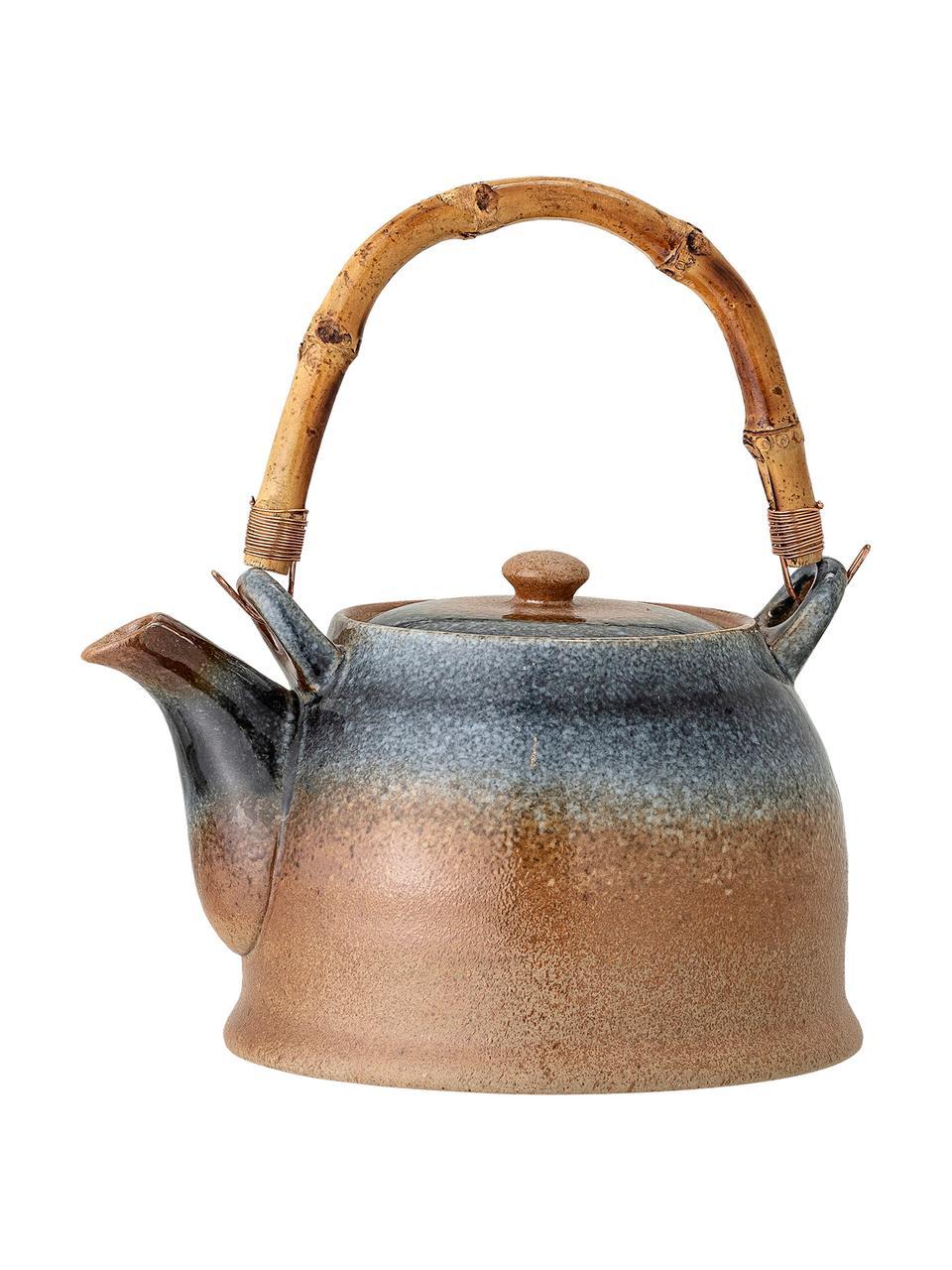 Ręcznie wykonany czajnik Aura, 1 l, Odcienie beżowego, odcienie niebieskiego, 1 l