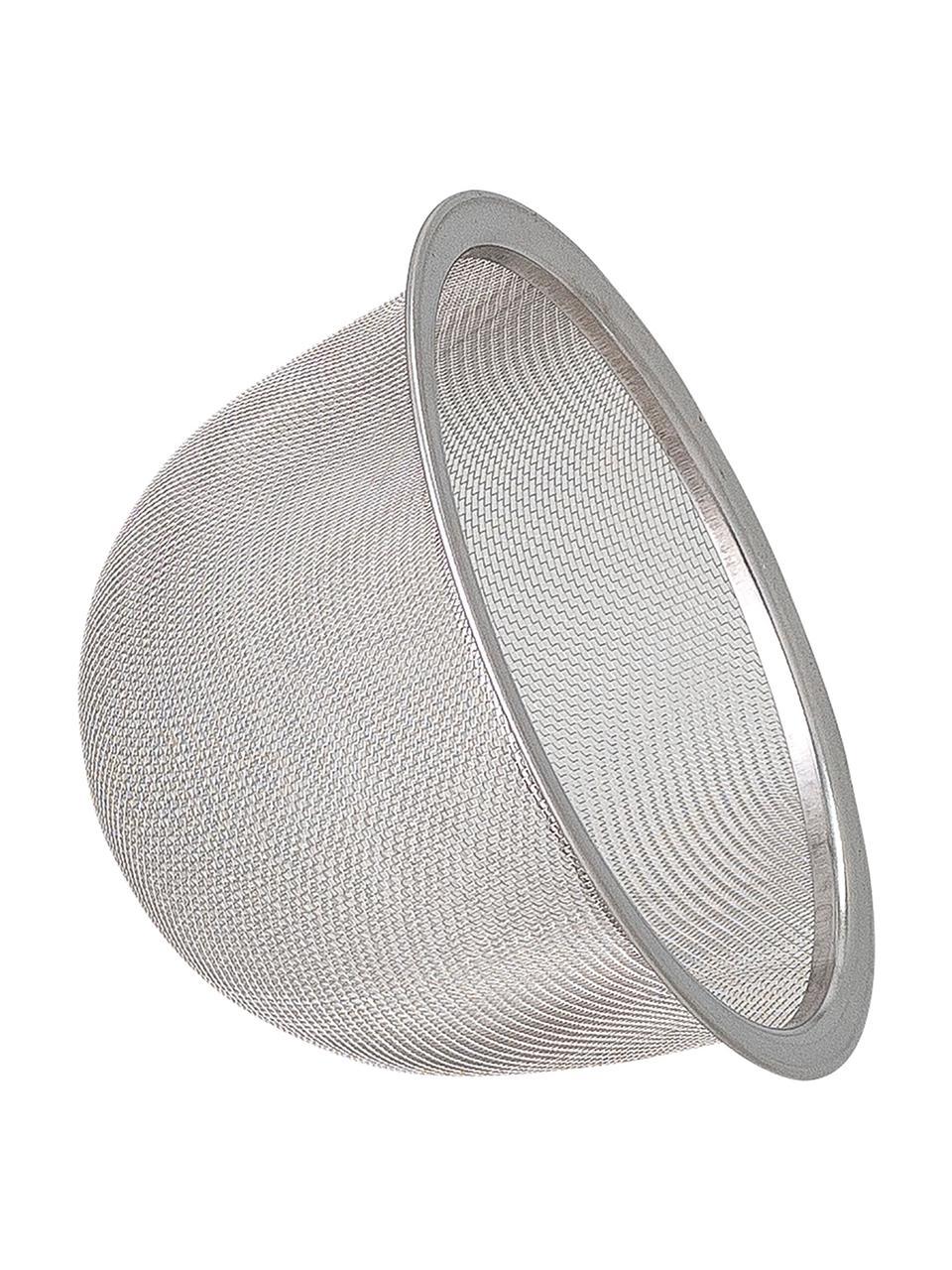Handgemachte Porzellan Teekanne Aura mit Teesieb und Bambusgriff, 1 L, Kanne: Porzellan, Griff: Bambus, Beige- und Blautöne, 1 L