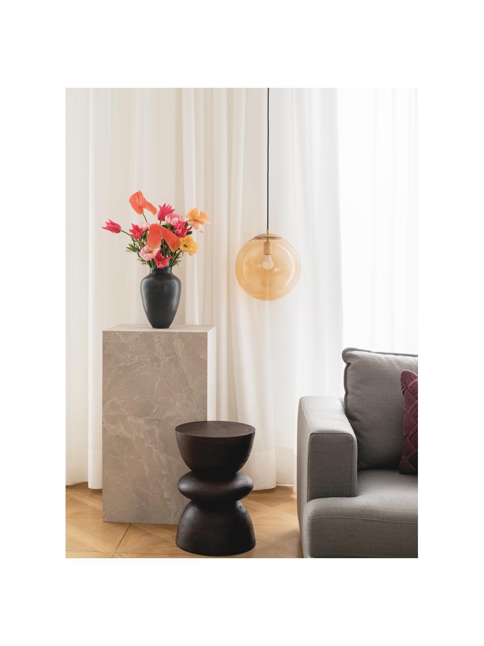 Tavolino in legno di mango marrone Benno, Legno massiccio di mango verniciato, Marrone scuro, Ø 35 x Alt. 50 cm
