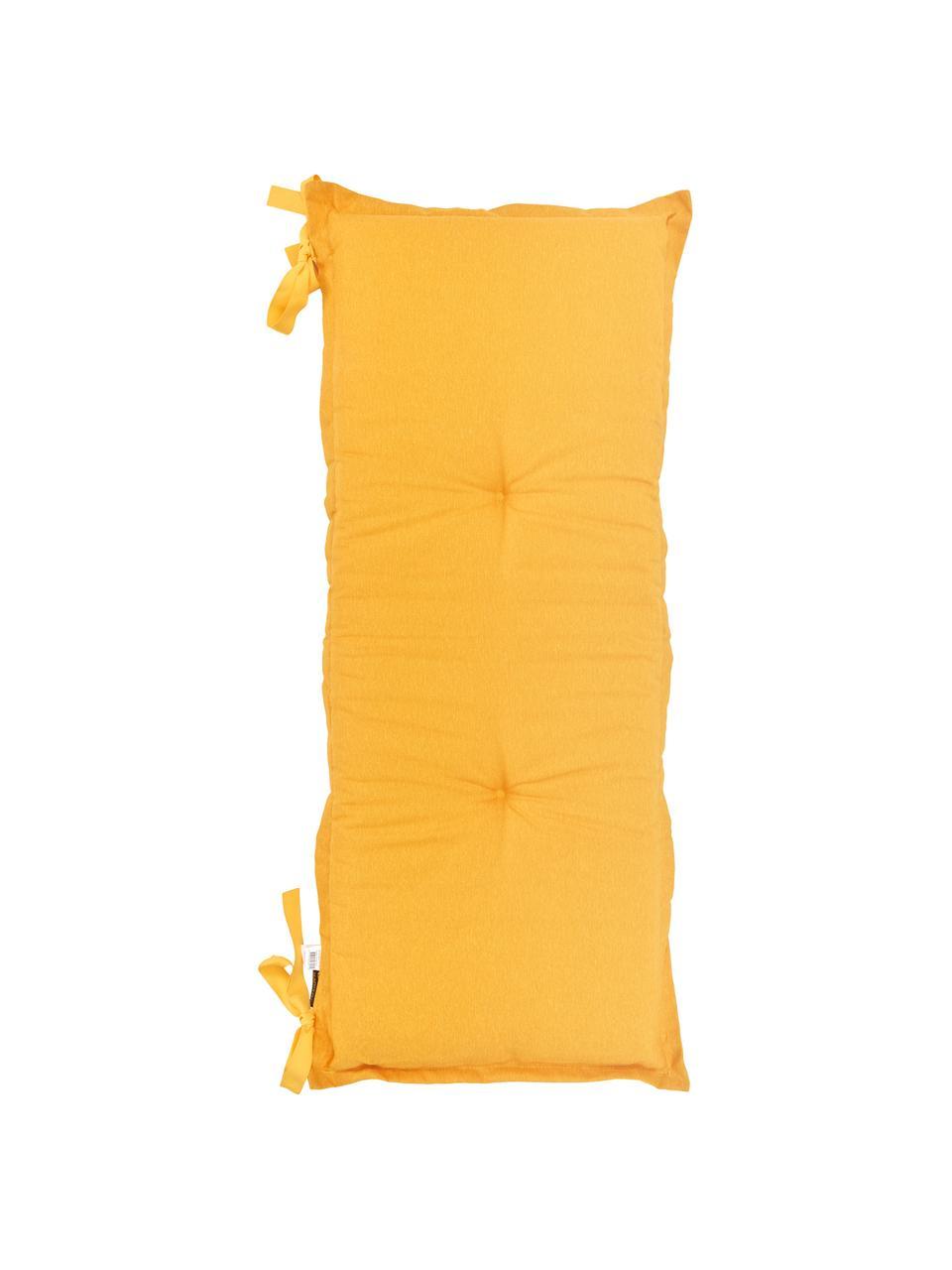 Einfarbige Bankauflage Panama in Gelb, 50% Baumwolle, 45% Polyester, 5% andere Fasern, Gelb, 48 x 120 cm