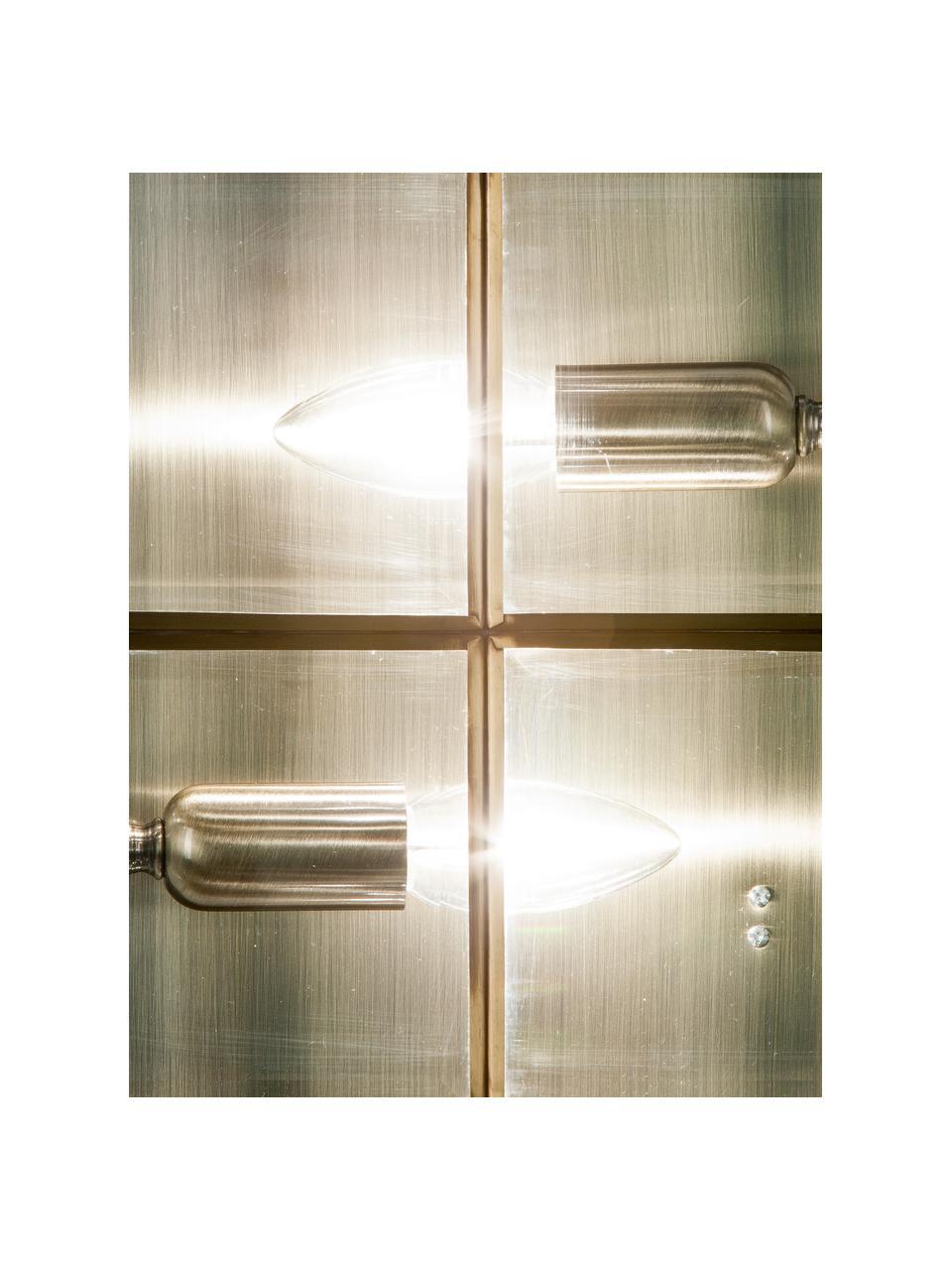 Kleine Deckenleuchte Ben in Messing, Lampenschirm: Glas, Messingfarben, Transparent, 26 x 10 cm