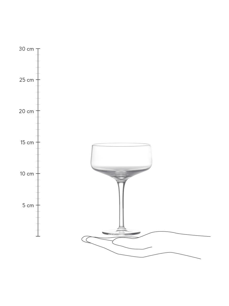Champagnerschalen Copa, 2 Stück, Kristallglas, Transparent, Ø 10 x H 14 cm