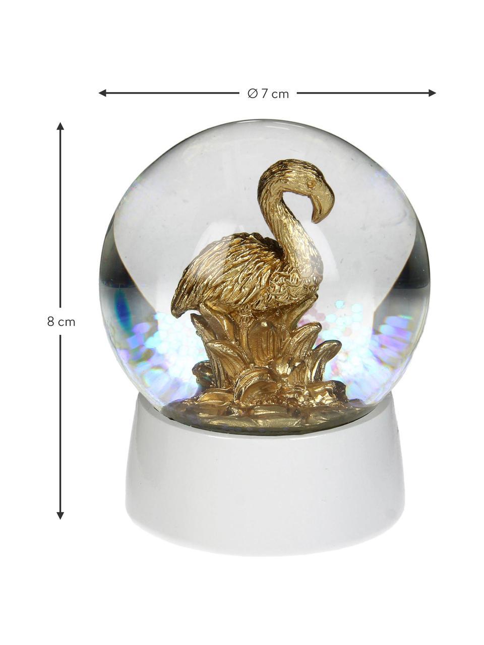 Dekoracja Flamingo, Biały, odcienie złotego, Ø 7 x W 8 cm
