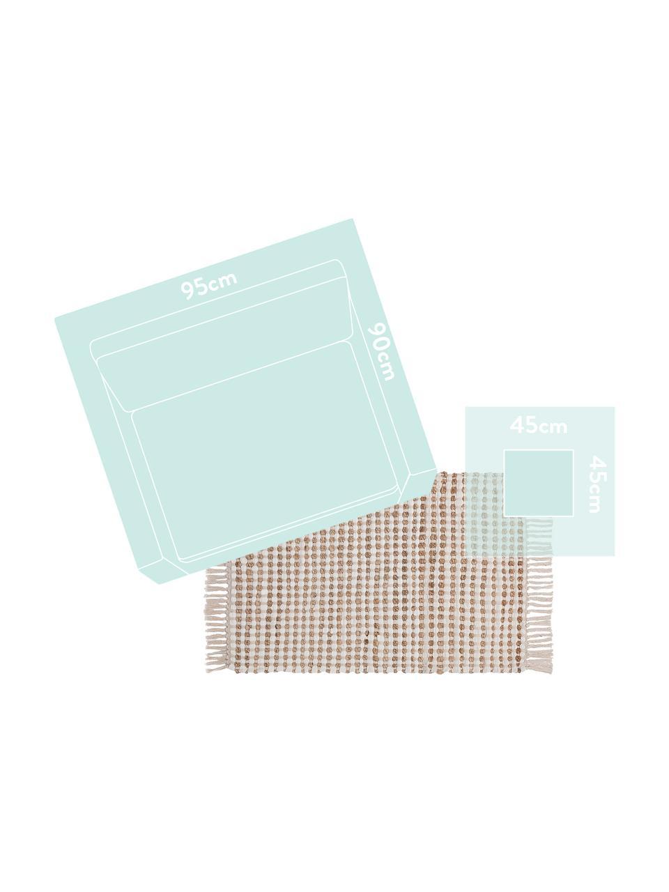 Dywan z bawełny/juty Fiesta, 55% bawełna, 45% juta, Biały, beżowy, S 200 x D 300 cm (Rozmiar L)
