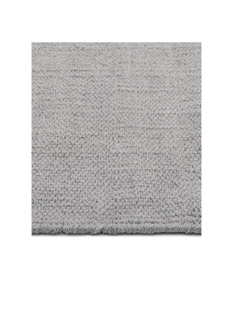Ręcznie tkany dywan z bawełny Agneta, 100% bawełna, Szary, S 70 x D 140 cm (Rozmiar XS)
