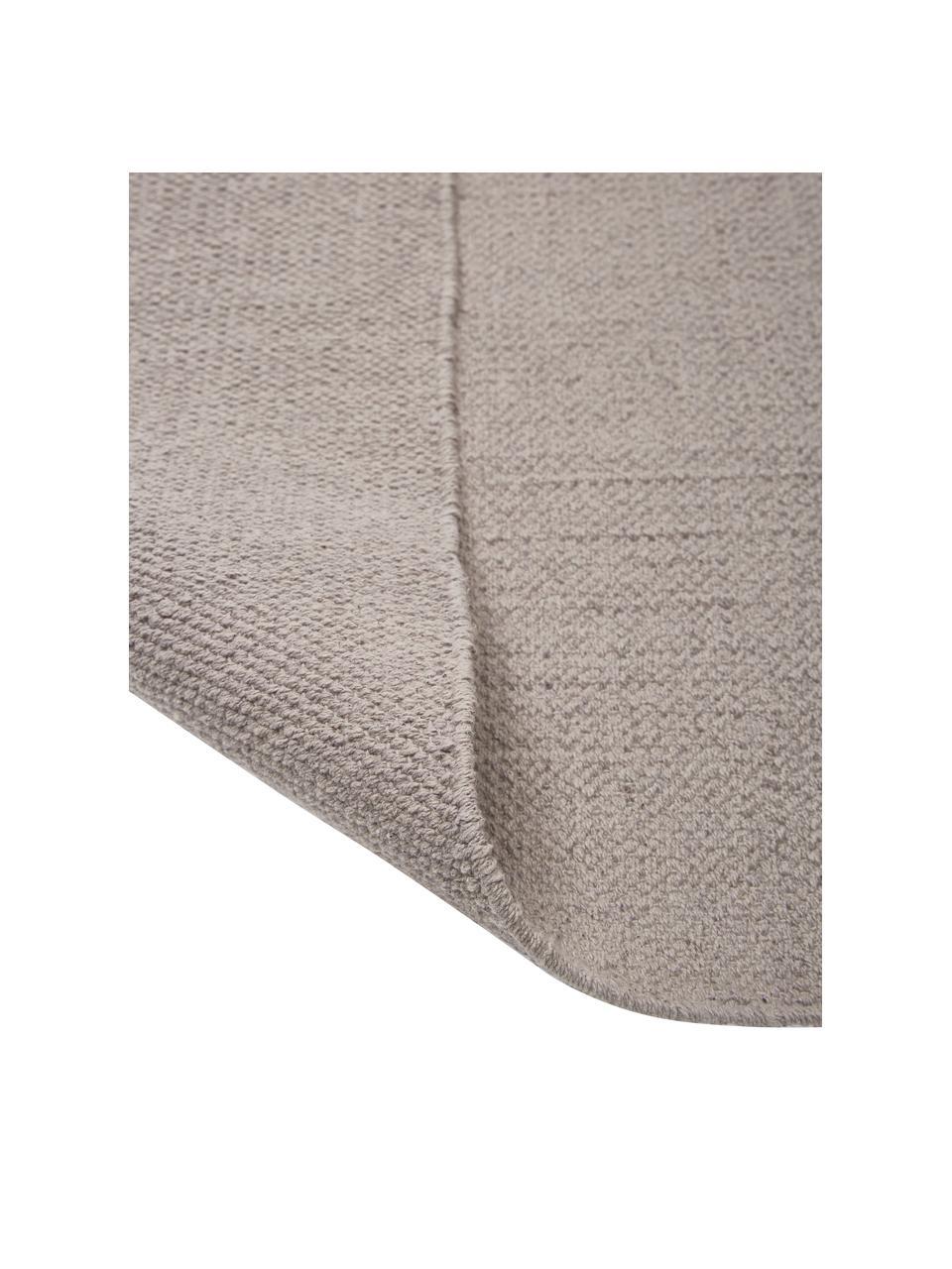 Tenký bavlněný koberec Agneta, ručně tkaný, Šedá