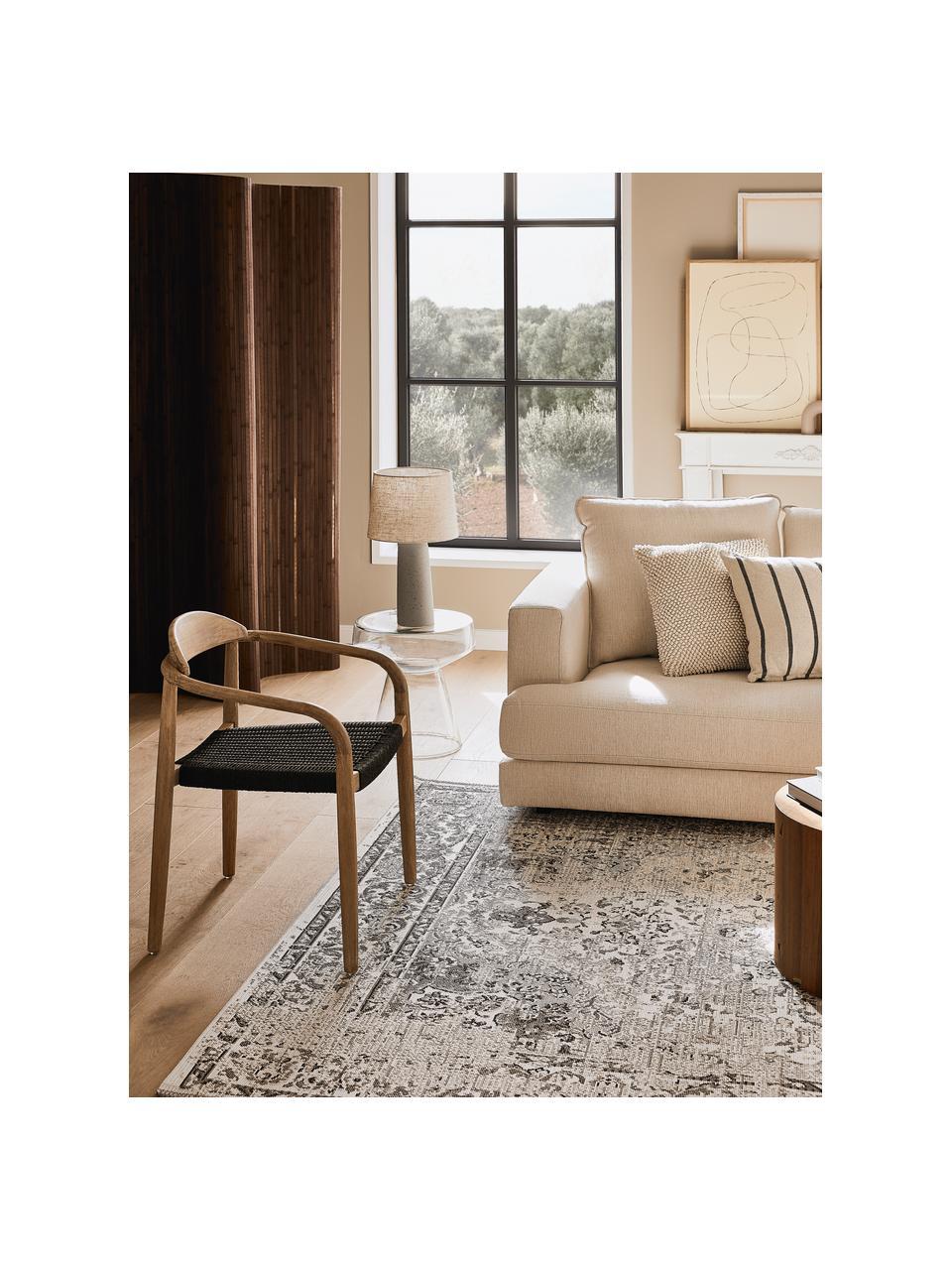 Tappeto vintage da interno-esterno Cenon, 100% polipropilene, Crema, grigio, Larg. 190 x Lung. 290 cm (taglia L)