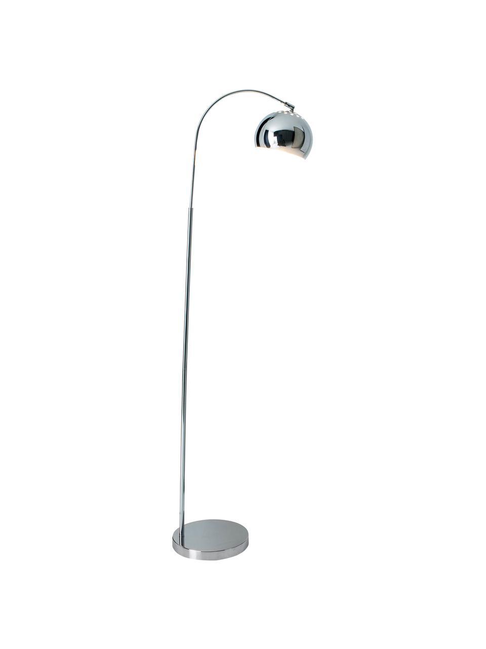 Leselampe Style in Silber, Lampenschirm: Metall, Lampenfuß: Metall, Silberfarben, T 45 x H 146 cm