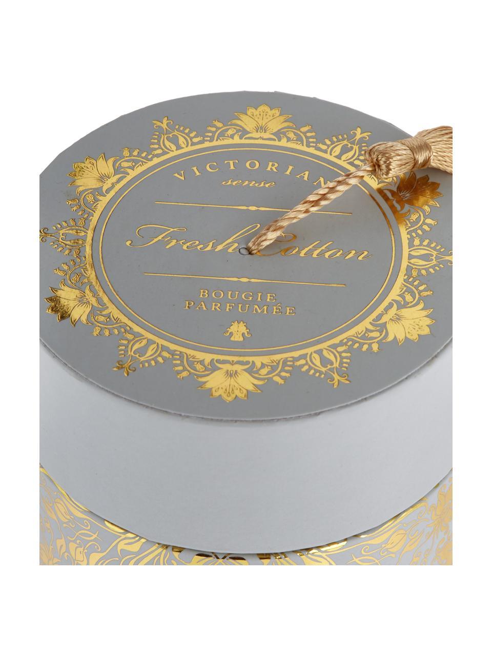 Candela profumata Sense (cotone fresco), Contenitore: vetro, Contenitore: grigio Cera: bianco, Ø 9 cm x A 11 cm