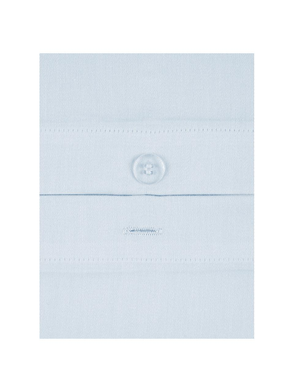 Baumwollsatin-Kopfkissenbezüge Comfort in Hellblau, 2 Stück, Webart: Satin Fadendichte 250 TC,, Hellblau, 40 x 80 cm