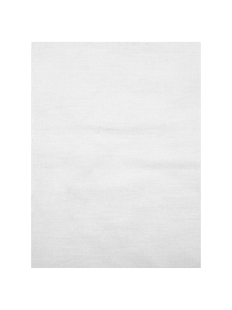 Parure copripiumino in percalle Malin, Fronte: motivo marmorizzato, grigio Retro: grigio chiaro, monocolore, 155 x 200 cm