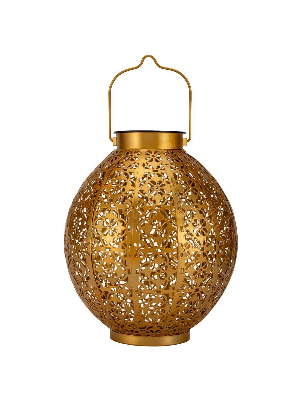 Lanterne solaire d'extérieur à poser ou suspendre Aura, Couleur dorée