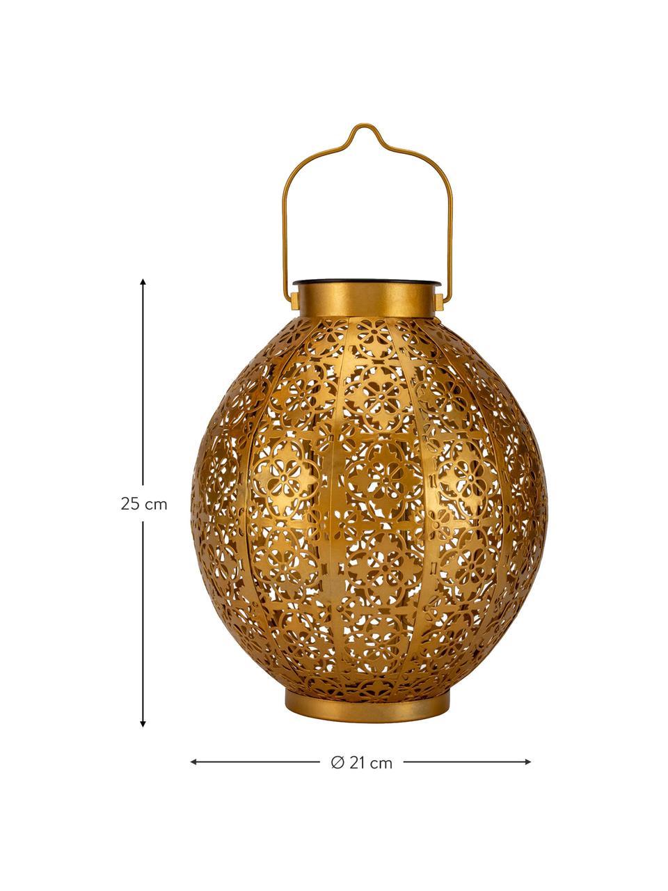 Solar Außenleuchte Aura zum Hängen oder Stellen, Goldfarben, Ø 21 x H 25 cm