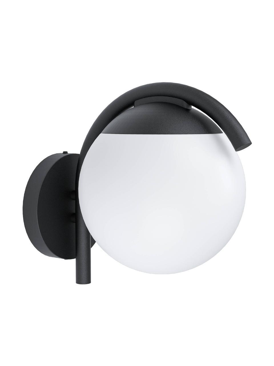 Zewnętrzny kinkiet Prata, Czarny, biały, S 20 x W 26 cm