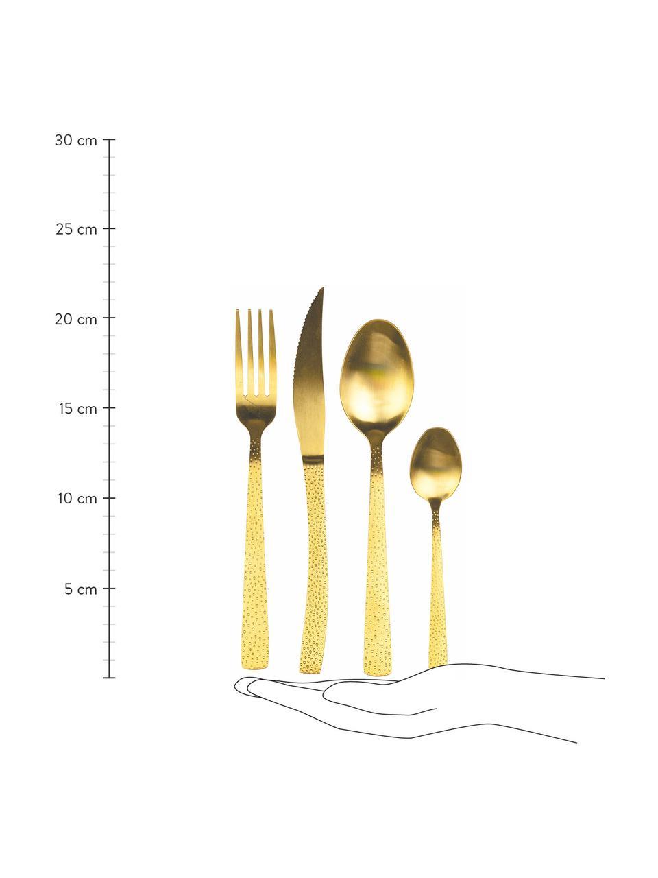 Ménagère acier inoxydable doré Posate, 6 personnes (24élém.), Couleur dorée