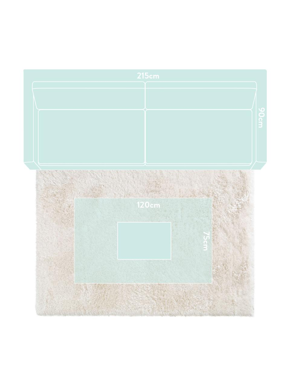 Dywan z wysokim stosem i połyskiem Lea, Biały, S 300 x D 400 cm (Rozmiar XL)