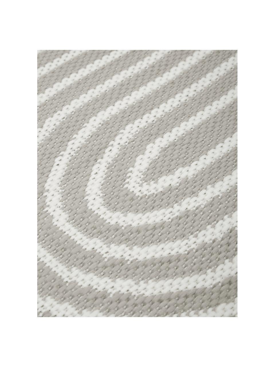 In- & outdoor vloerkleed Arches in grijs/wit, 86% polypropyleen, 14% polyester, Grijs, wit, B 200 x L 290 cm (maat L)