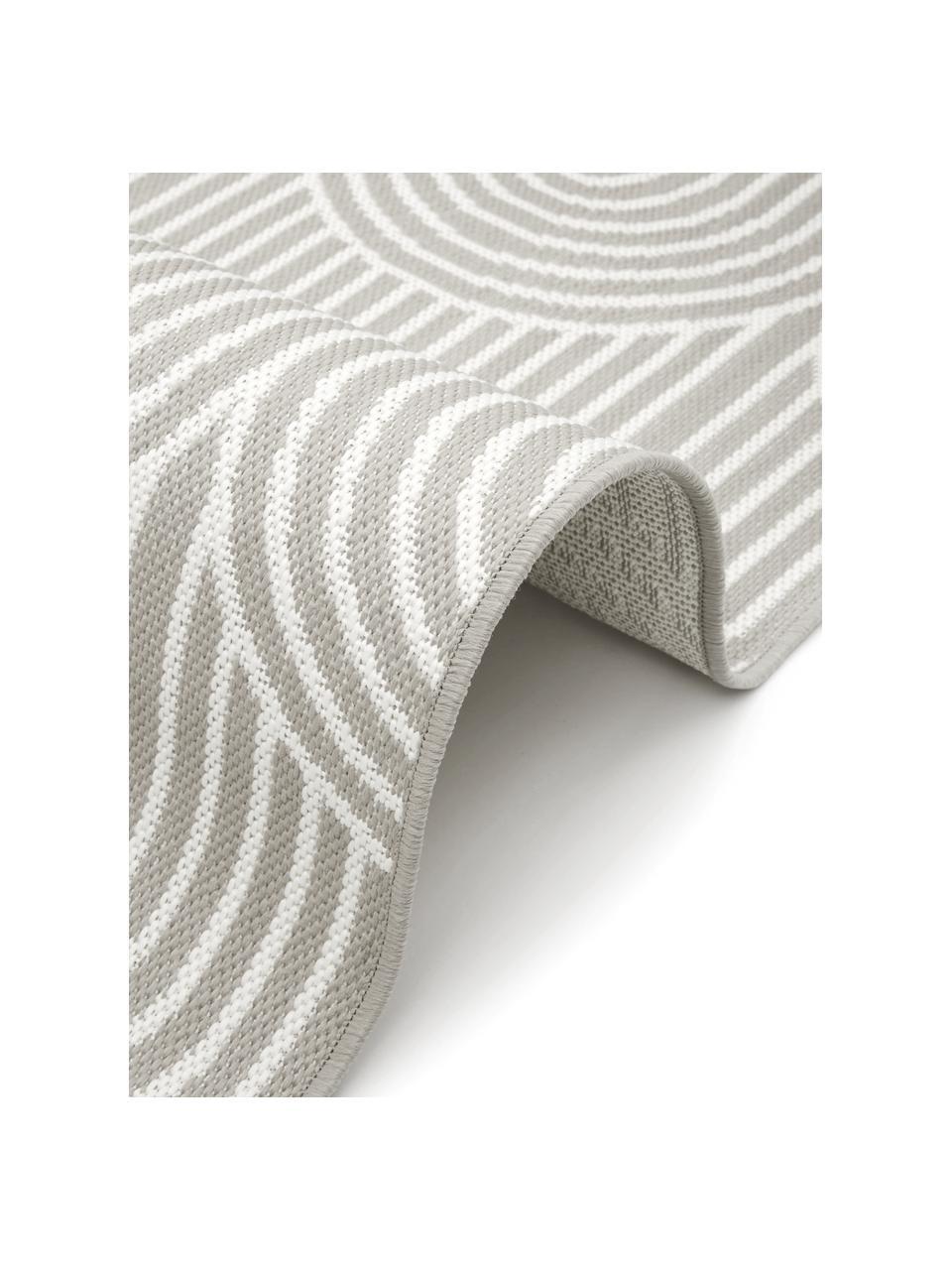 Dywan wewnętrzny/zewnętrzny Arches, 86% polipropylen, 14% poliester, Szary, biały, S 200 x D 290 cm (Rozmiar L)