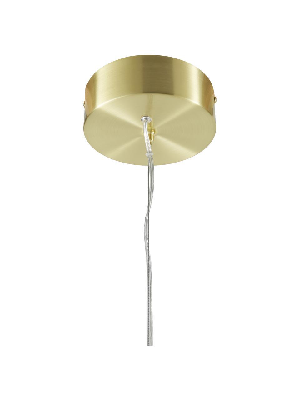 Grande suspension LED dorée Gratia, Couleur dorée
