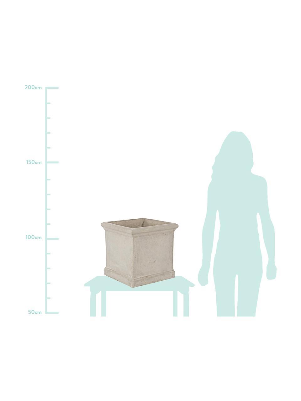 XL Pflanztopf-Set Uara, 2-ltg., Kunststoff, Sandfarben, Set mit verschiedenen Größen
