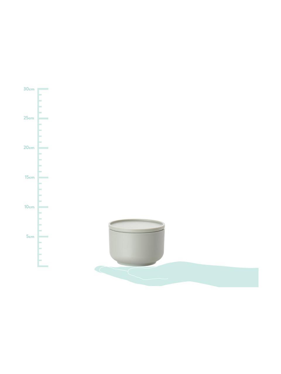 Pojemnik do przechowywania Peili, Melamina, Zimny zielony, Ø 9 x W 6 cm